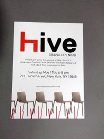 "Invitation to store opening Dimensions 5""x7"""