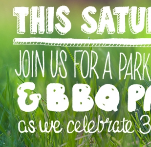 Lettering for Park's and People's 30th Anniversary.