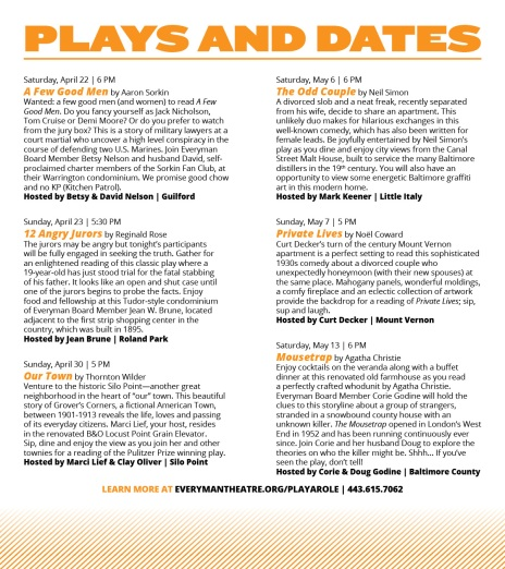 Play a Role Rack Card - interior