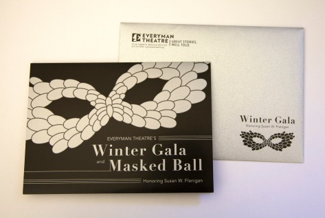 Gala Invitation and Envelope